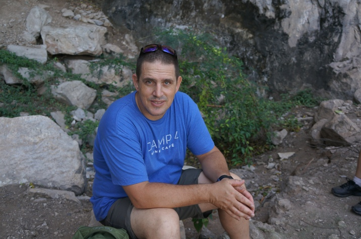 Jeff, relaxing after exploring the cave