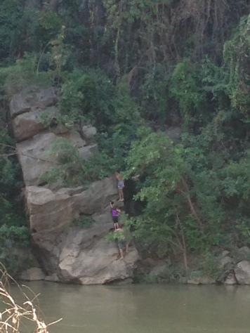 Cliff jumping area for Jeff and the kids